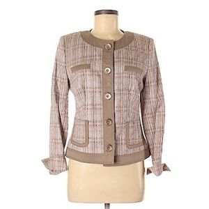 Basler Selection Size 38 Plaid Blazer Jacket